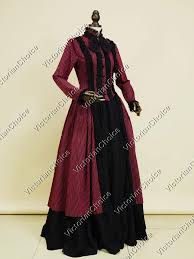 Red Witch Halloween Costume Victorian Dress Penny Dreadful Gown Dark Red Vampire Witch