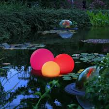 Floating Solar Pond Lights - orb lighting ideas for pool and patio