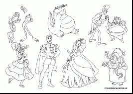 Surprising Disney Princess And The Frog Coloring Page With Princess And The Frog Colouring Pages