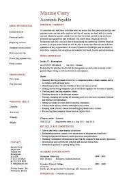 accounts payable resume exle accounts payable resume sle description salary exle