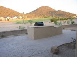 desert landscape arizona backyard with a golf course view