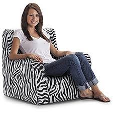 amazon com big joe dorm bean bag chair zebra kitchen u0026 dining