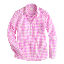 boy shirt in neon gingham women size 16 j crew