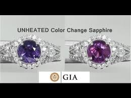 coloured sapphire rings images Gia certified unheated natural vvs color change sapphire diamond jpg