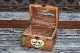 Shabby Chic Wedding Guest Book by Wedding Advice Box With Slit Wedding Chest Wishing Well