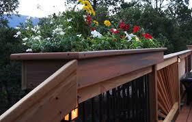 bedroom brilliant balconera deck planter box fits any railing