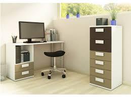 bureau enfant taupe bureau albin 2 tiroirs et 1 niche taupe et blanc
