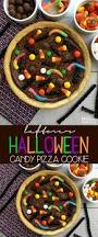 candy pizza cookie with leftover halloween candy