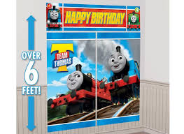 sweet pea parties thomas the tank engine thomas all aboard wall decorating kit
