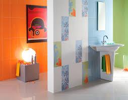 Orange Bathroom Indoor Tile Bathroom Wall Floor Simple U0026 Fizzy Ceramica