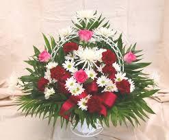 Traditional Funeral Flower - herdt florist funeral baskets fresh cut flowers traditional designs