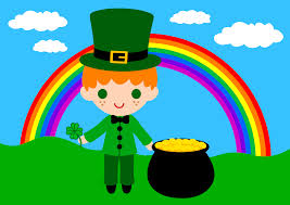 cute saint patricks day scene free clip art