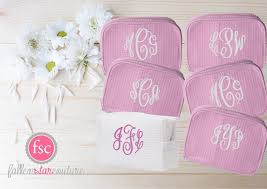 personalized bags for bridesmaids set of 6 bridesmaid makeup bags bridesmaid accesory bags