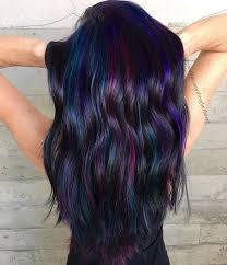 Ideas For Black Pink And Best 25 Black Hair Purple Highlights Ideas On Pinterest Brown