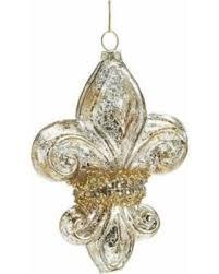 bargains on burton burton 5 glass fleur de lis ornament gold