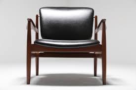 1950s Armchair Fd 136 Teak U0026 Leather Armchair By Finn Juhl For France