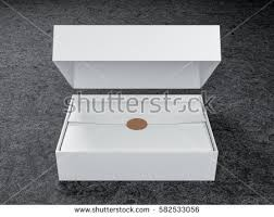 wrapping paper box white opened box mockup wrapping paper stock illustration