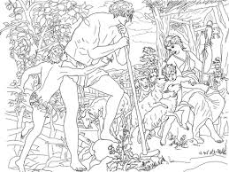 coloring pages adam and eve adam and eve with cain and abel coloring page free printable