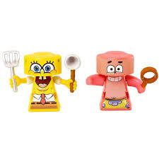 rip spin warriors spongebob squarepants v patrick 2 pack