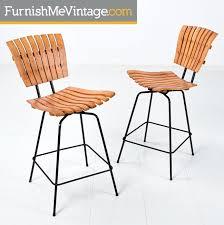 umanoff slatted retro bar stools