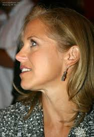 hairstyles of katie couric katie couric with long hair styled to make the most of her cowlick