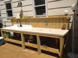 Outdoor Kitchen Sink Faucet Outdoor Sink And Countertop Area Complete With Garbage Disposal