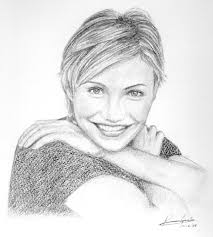 celebrity art pencil drawings of famous celebrities cameron
