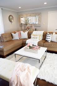 Living Room Decorating Ideas Apartment Mar 2 2 Ladies Spring Home Tour Joan U0027s Home Stools Trays And Fur