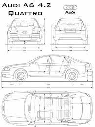 dimension audi a6 the blueprints com blueprints cars audi audi a6 quattro