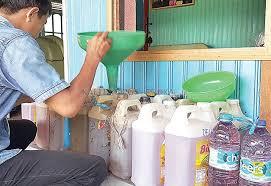 Minyak Tanah Per Liter mitan subsidi dijual harga nonsubsidi kalteng pos