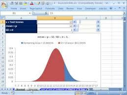 Bell Curve Excel Template Excel Statistics 68 Normal Bell Standard Normal