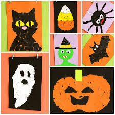Craft Ideas For Kids Halloween - halloween torn paper art ideas easy peasy and fun