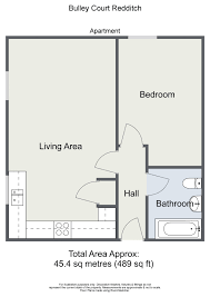 floor plans to scale one bedroom ground floor apartment bulley court 2a cedar park