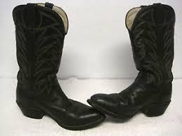 s boots size 9 1 2 vintage s durango lea v fox black cowboy boots size