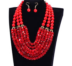 necklace with beads design images African beads jewelry set mai serenity jpg