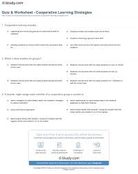 quiz u0026 worksheet cooperative learning strategies study com