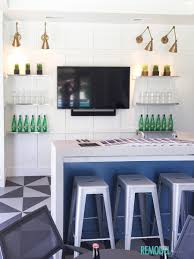 remodelaholic get this look coastal inspired basement kitchenette