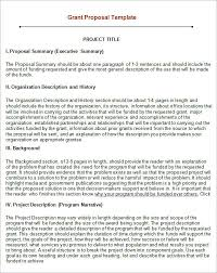 grant proposal template sample project proposal cover page sample