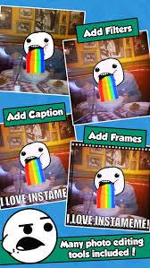 Meme Picture Editor - instameme photo editor with funny meme stickers apprecs