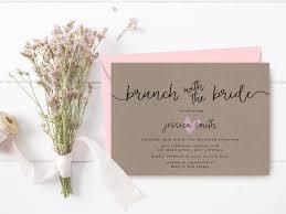 rustic bridal shower invitation printable brown paper bridal