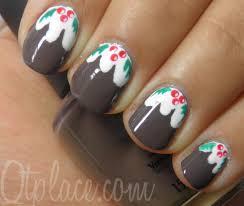 christmas pudding nail art qtplace