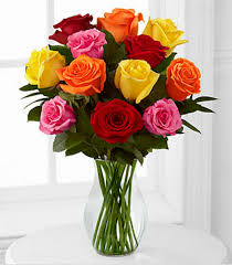 multi colored roses 1 dozen multi colored roses in merritt island fl s