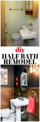 Design On A Dime Bathroom by Diy Half Bath Remodel