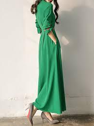 sleeve maxi dress army green crew neck spandex sleeve maxi dress stylewe