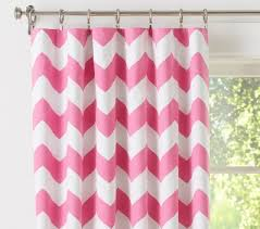 Pink Chevron Curtains Chevron Blackout Panel Pottery Barn