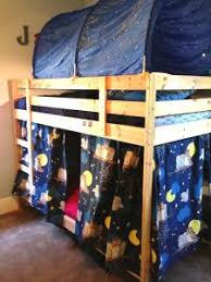 Boys Space Curtains Top Bunk Tent Hung From The Ceiling On A Curtain Rod Sides
