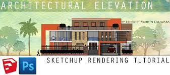 l arch viz architectural elevation sketchup rendering tutorial