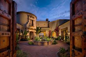 Spanish Style Courtyard Homes  Design Ideas With Brick Patio - Home designs with courtyards