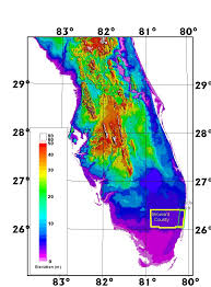 florida topo map an airborne laser topographic mapping study of eastern broward