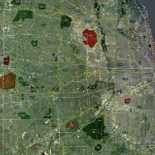 Chicago Map Poster by Chicago U2013 Rolled Aerial Map Landiscor Real Estate Mapping